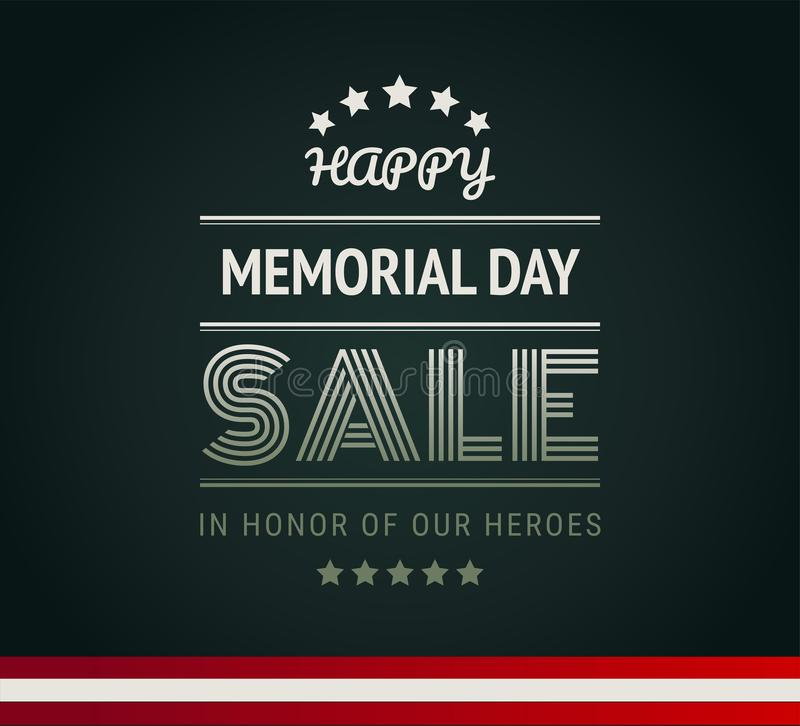 Happy Memorial Day Sale army green background vector stock illustration