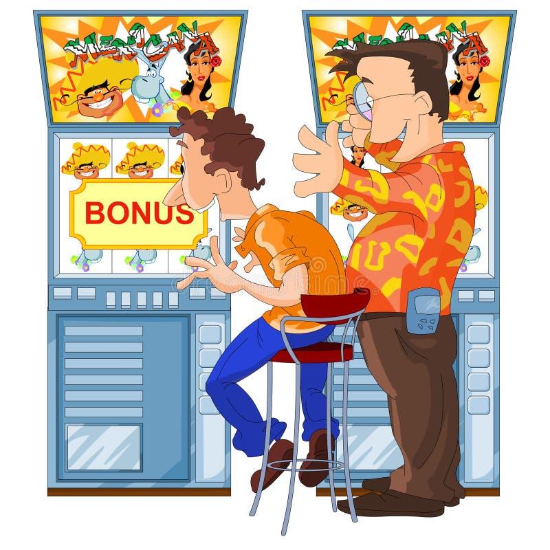 Download Happy Men Won In Slot Machine Stock Illustration - Illustration of automat, lucky: 21562907