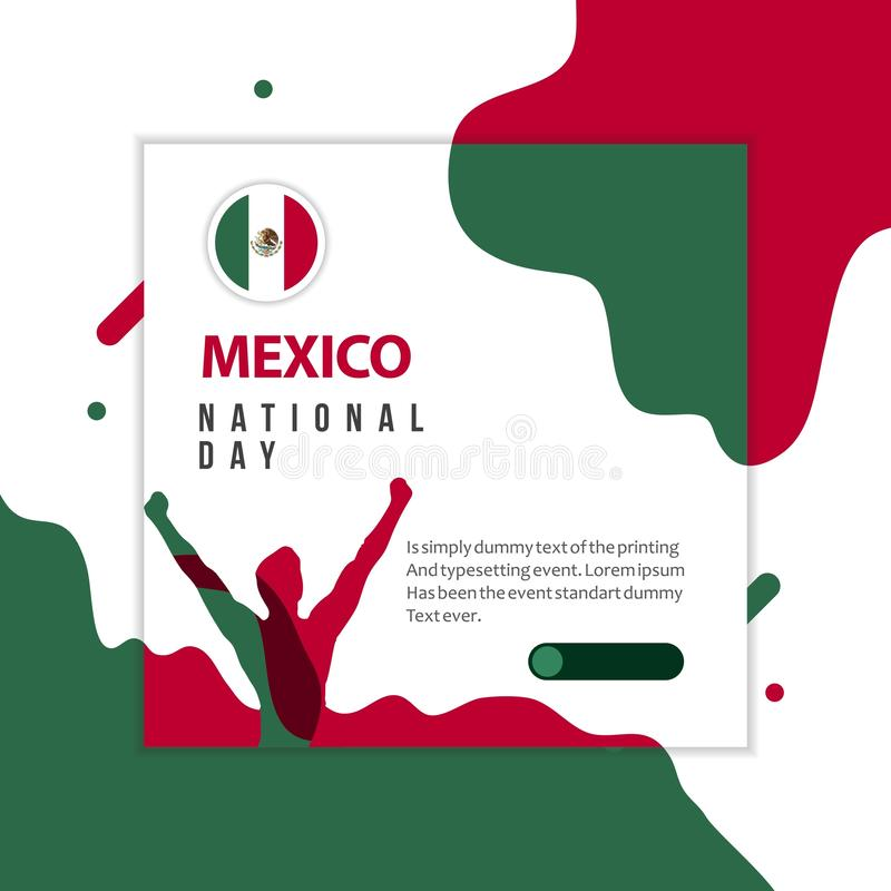Happy Mexico National Day Vector Template Design Illustration stock illustration