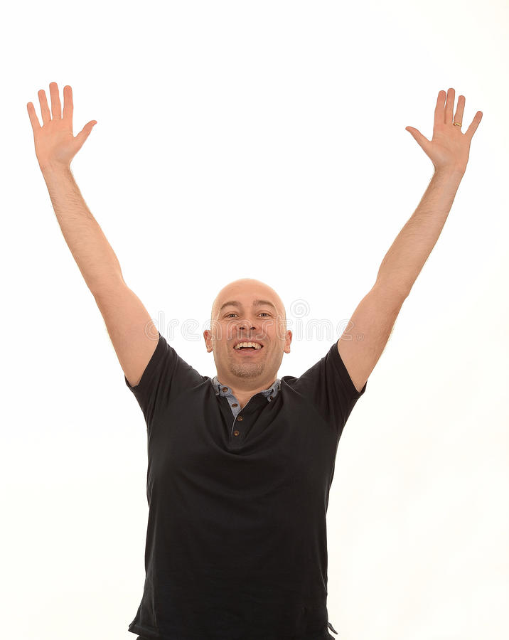 Happy middle aged man royalty free stock photo