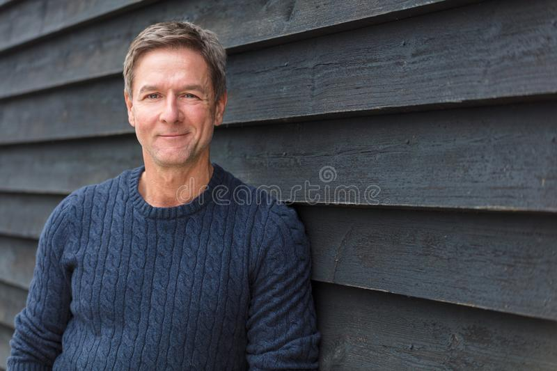 Happy Middle Aged Man Outside stock photos