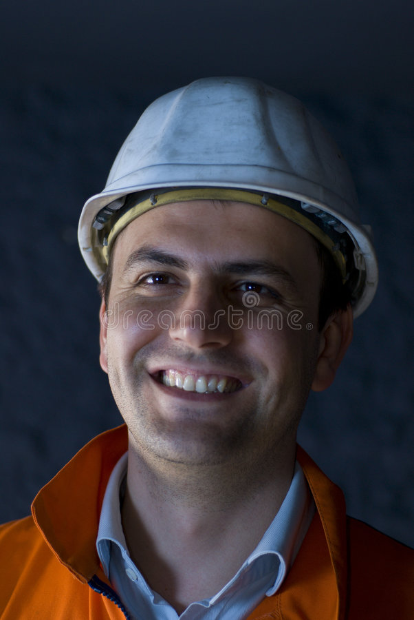 Download Happy miner stock image. Image of energy, handsome, background - 4971889