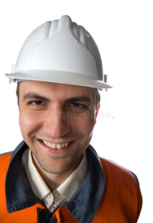 Happy Miner Stock Photo
