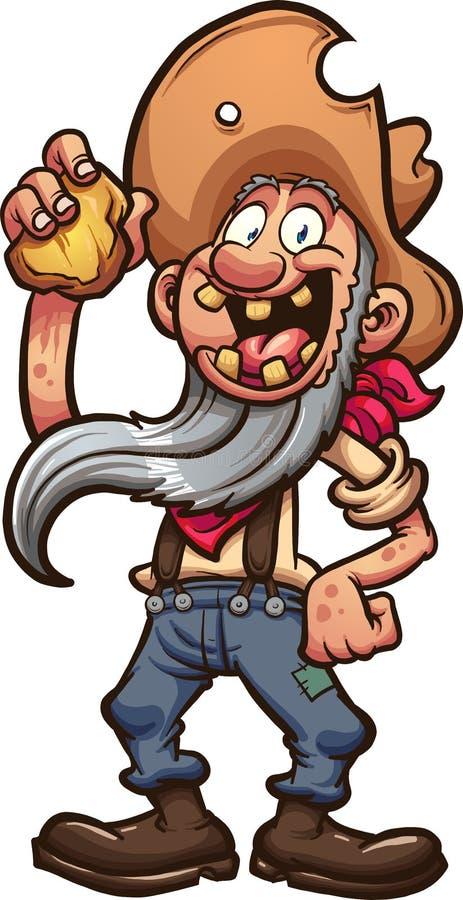 Happy miner vector illustration