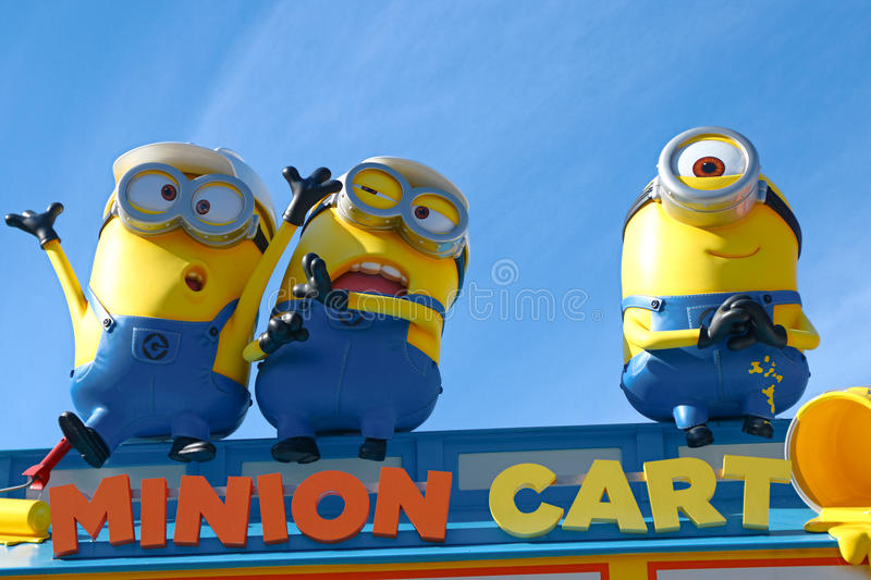 HAPPY MINION MART royalty free stock images