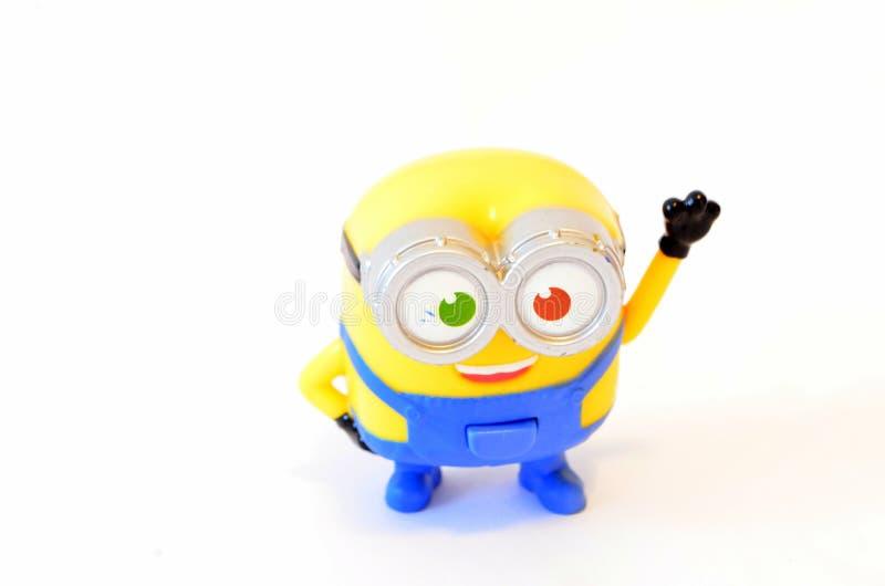Happy minion toy stock photography