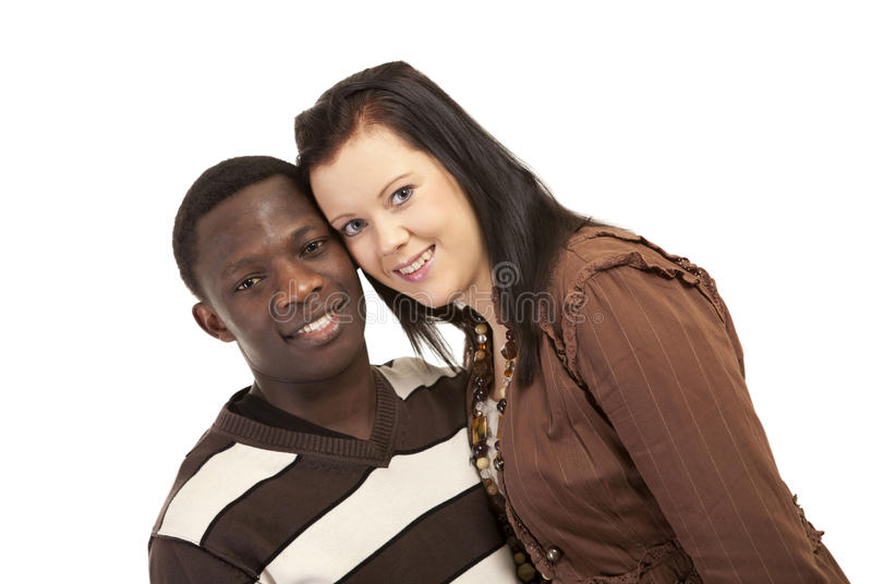 Happy mixed couple stock images