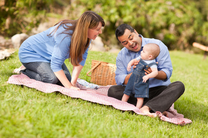 Download Happy Mixed Race Family Playing In The Park Stock Image - Image: 16677007