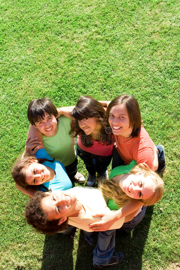 Download Happy mixed race group stock photo. Image of race, outside - 2399134