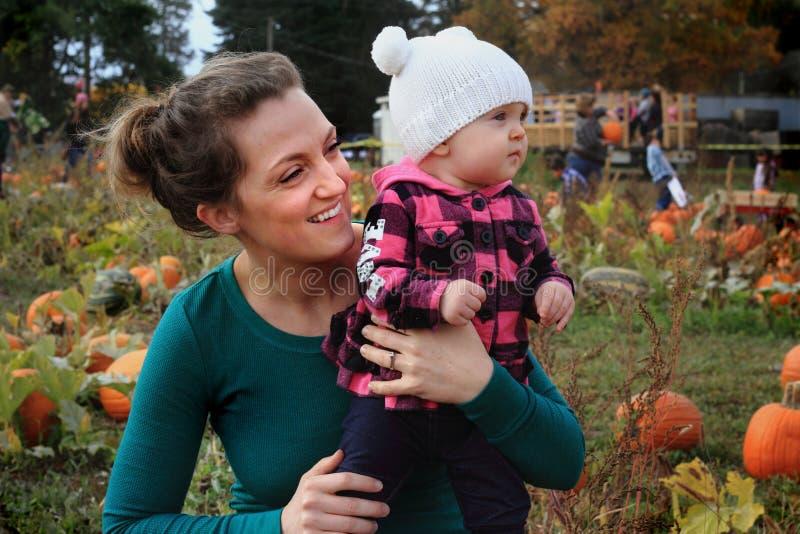 Happy Mom and Baby stock photo