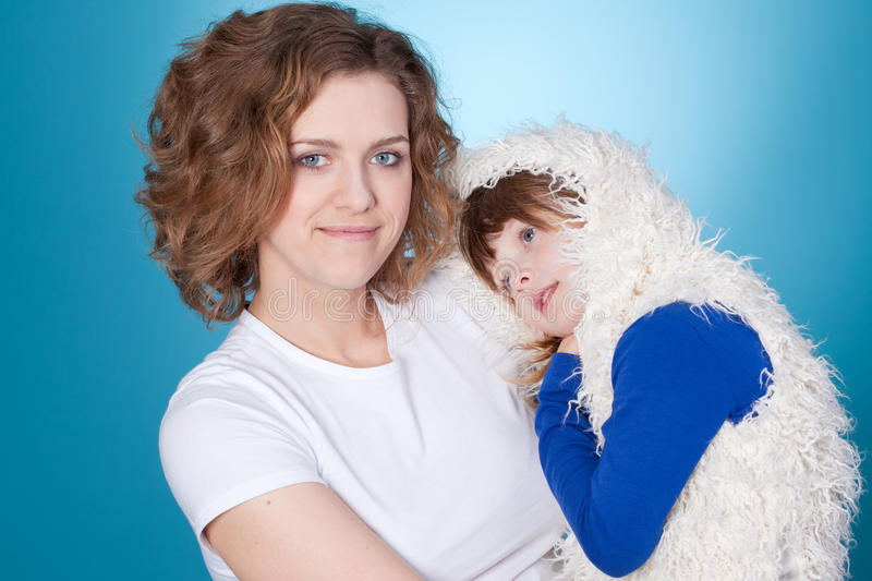 Download Happy Mom And Child Embracing Stock Photo - Image: 19070786