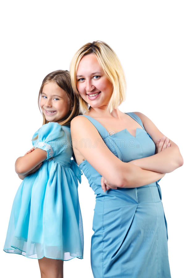 Download Happy mom and daughter stock image. Image of beautiful - 26631531