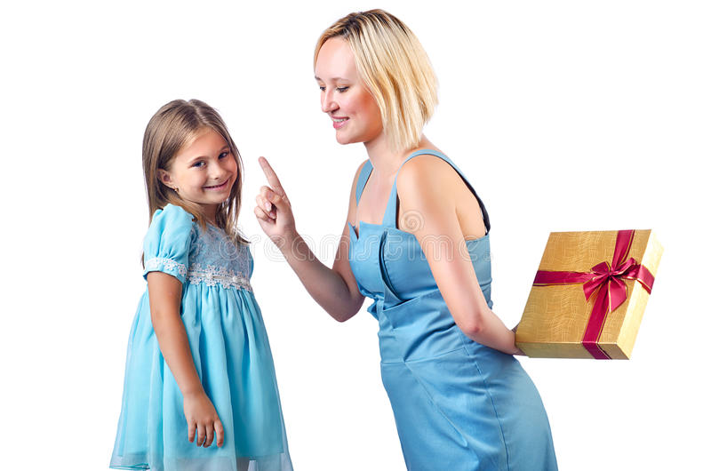 Download Happy mom and daughter stock photo. Image of gift, female - 27714946