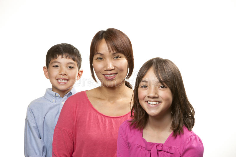 Happy mom, happy kids. royalty free stock photos