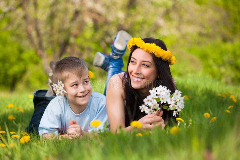 Download Happy Mom And Son In A Green Park. Summer Stock Photo - Image: 30782408