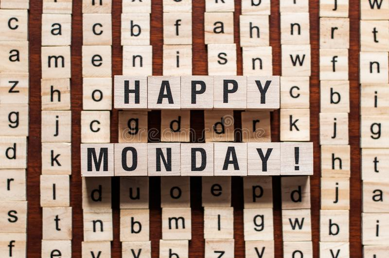 Happy monday word concept royalty free stock image