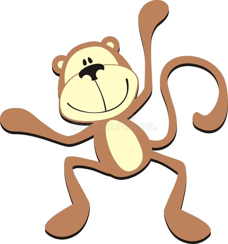 Happy monkey royalty free illustration