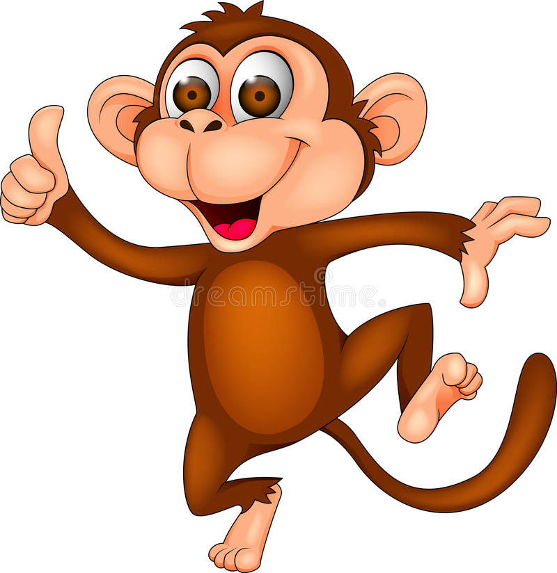 Happy monkey stock illustration
