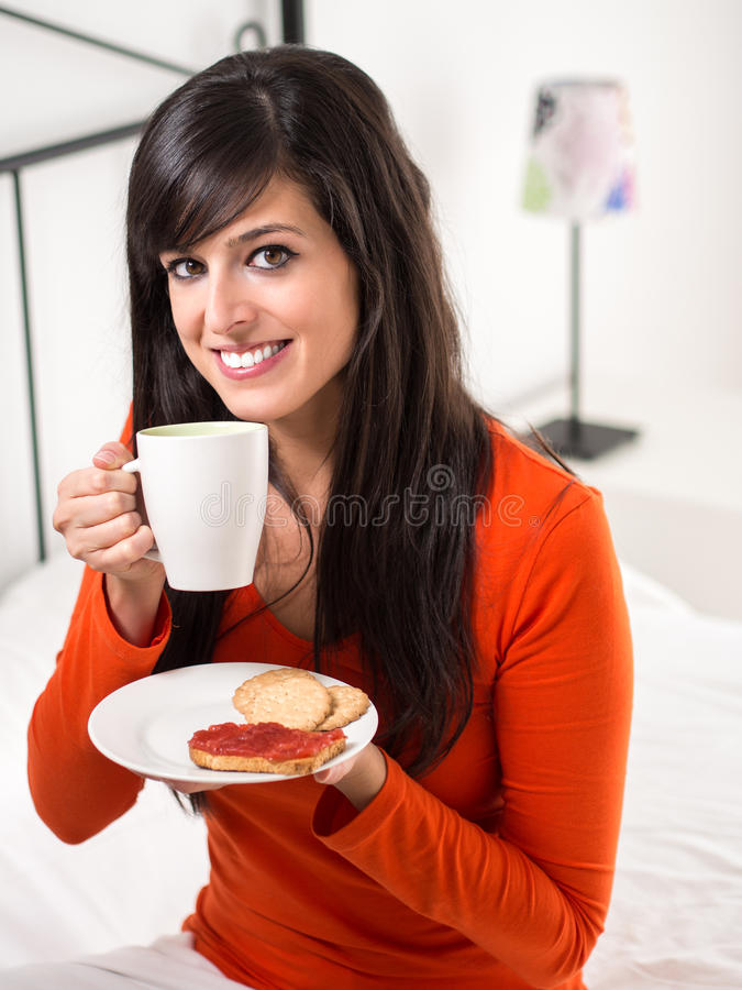 Download Happy morning breakfast stock image. Image of comforting - 27519787