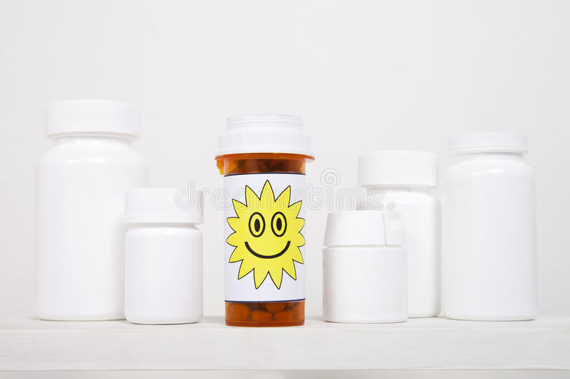 Happy Morning Pills Stock Photography