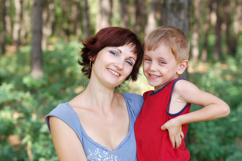 Download Happy mother and boy stock photo. Image of grass, human - 2947364