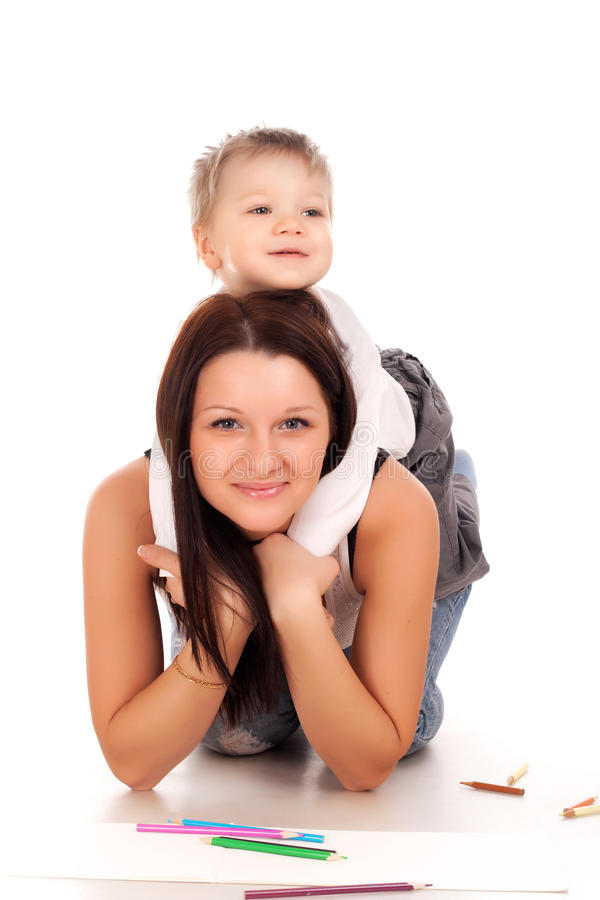 Download Happy mother with a child stock image. Image of child - 28683501
