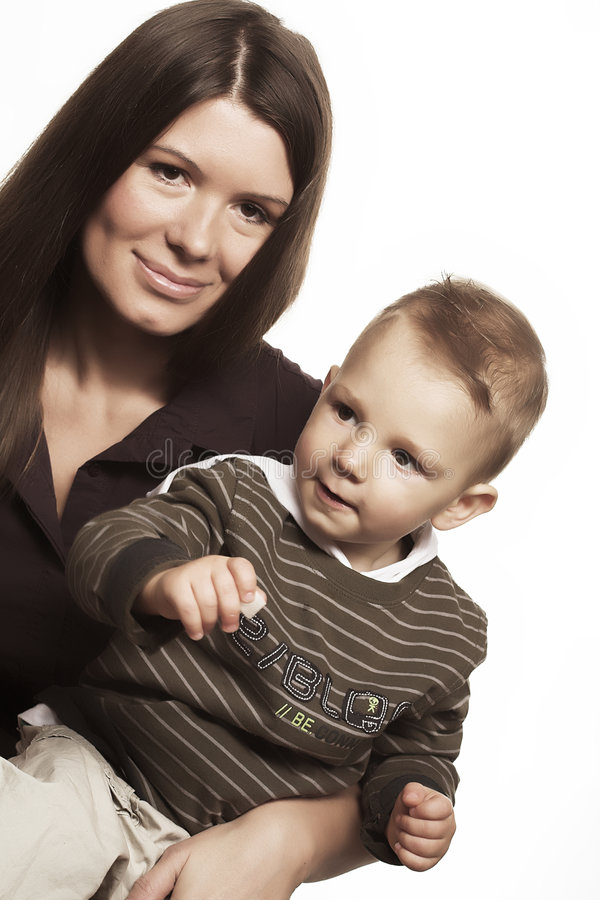 Happy mother with child stock photos