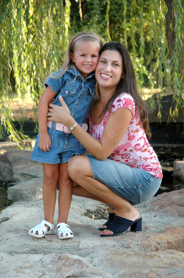 Download Happy Mother and Daughter stock photo. Image of daughter - 1224718