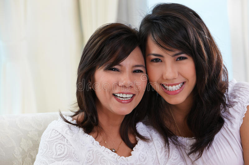 Download Happy mother and daughter stock image. Image of indoor - 16932893