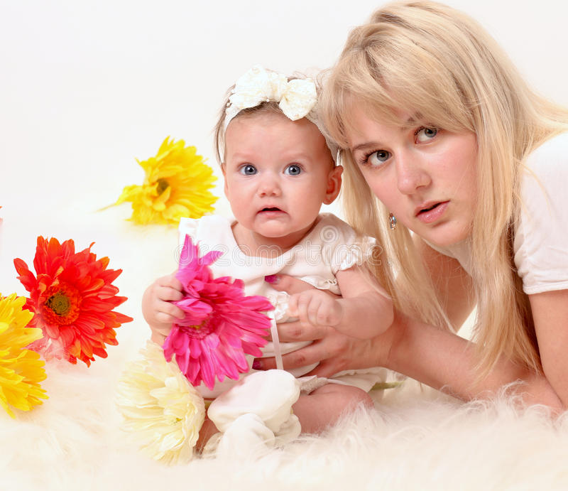 Happy mother with daughter royalty free stock photos