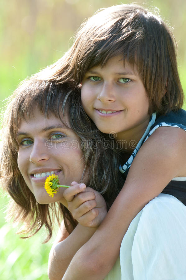 Download Happy mother and daughter stock photo. Image of female - 24929706