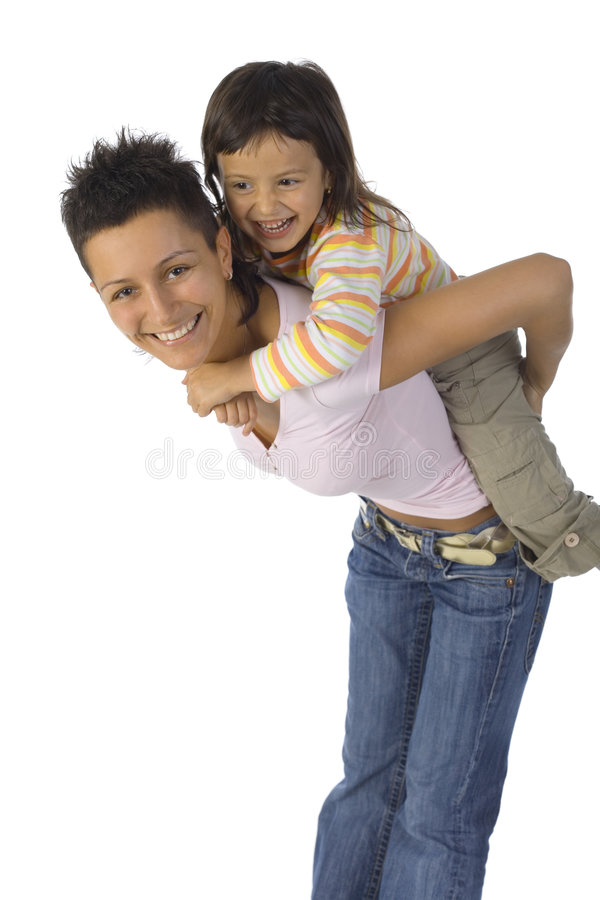 Download Happy mother with daughter stock image. Image of little - 2583075