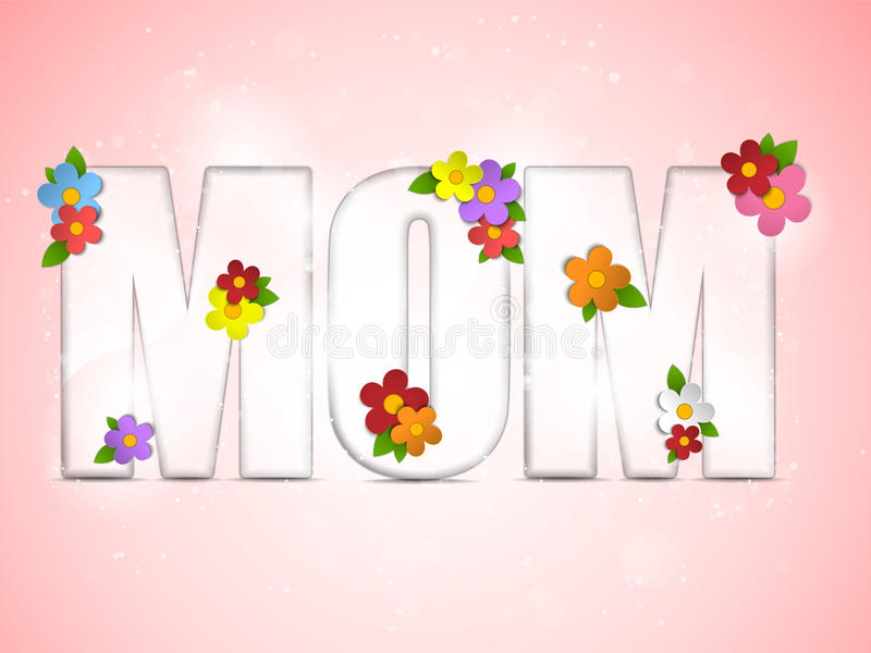 Happy Mother Day Flower Background Stock Photography