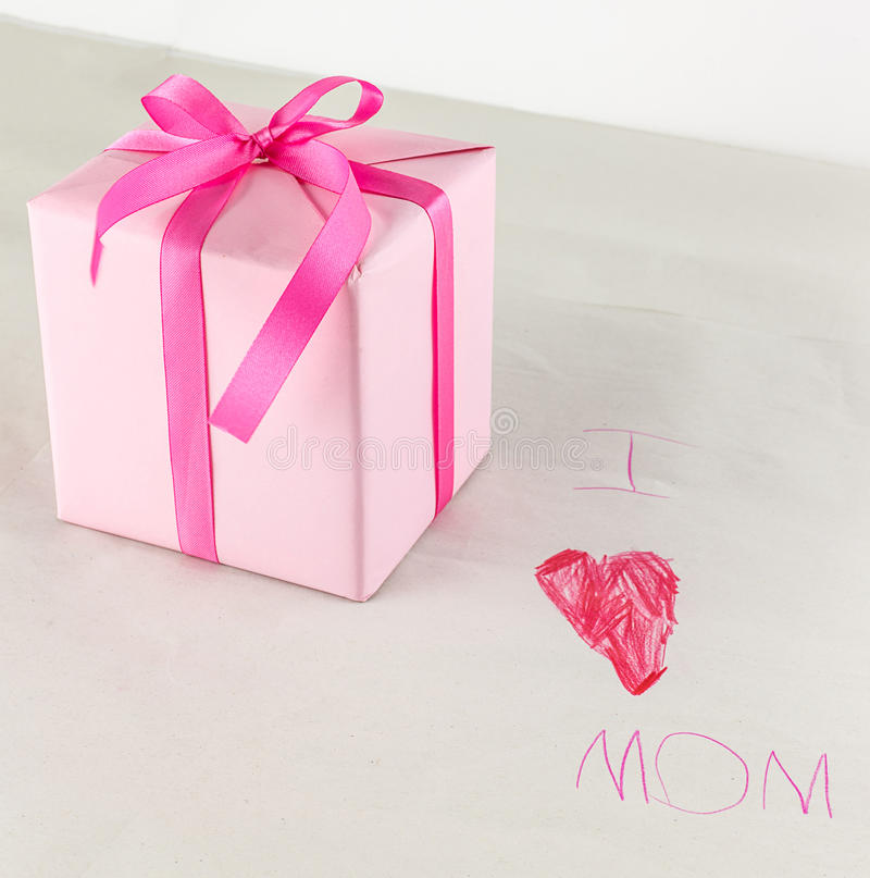 Happy mother day - gift boxes stock photography