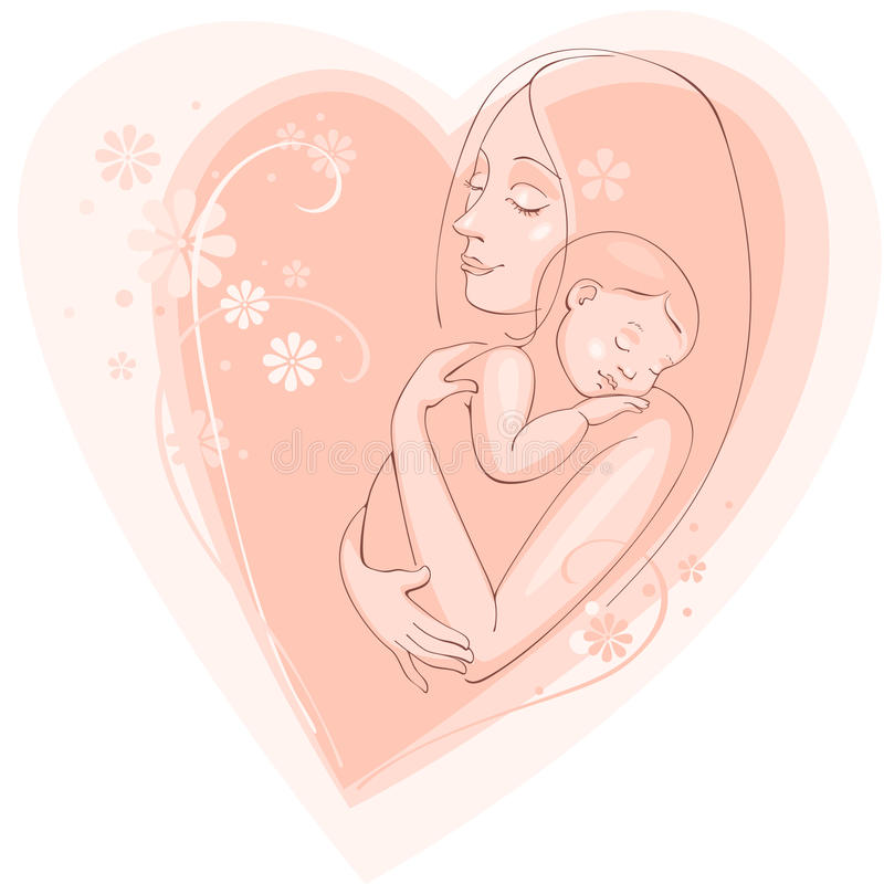 Happy mother day vector illustration