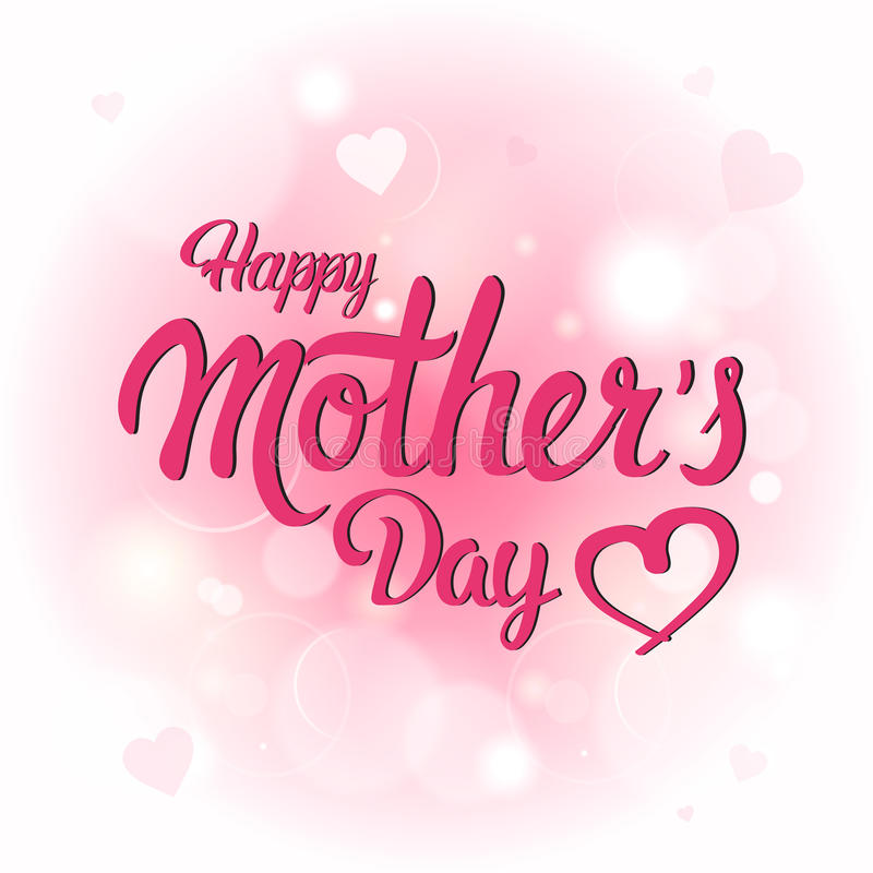 Happy Mother Day, Spring Holiday Greeting Card Banner vector illustration
