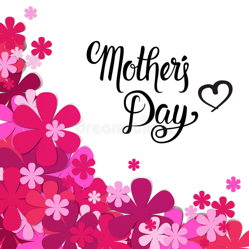 Happy Mother Day, Spring Holiday Greeting Card Banner royalty free illustration