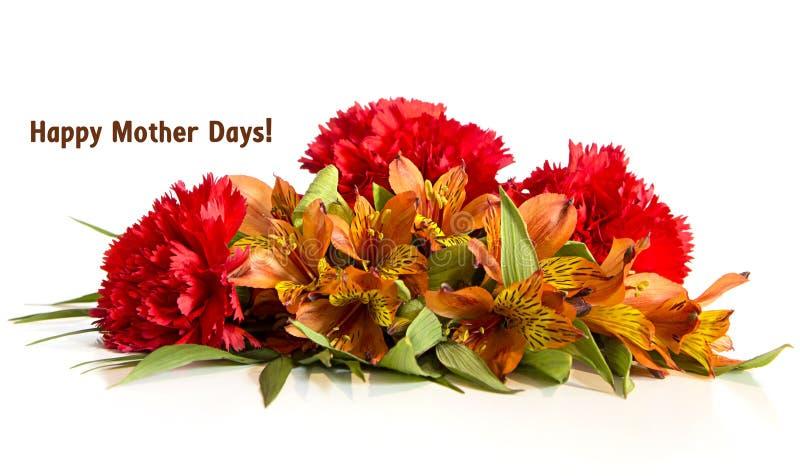 Flower arangement. Happy mother days colored flower arangement royalty free stock images