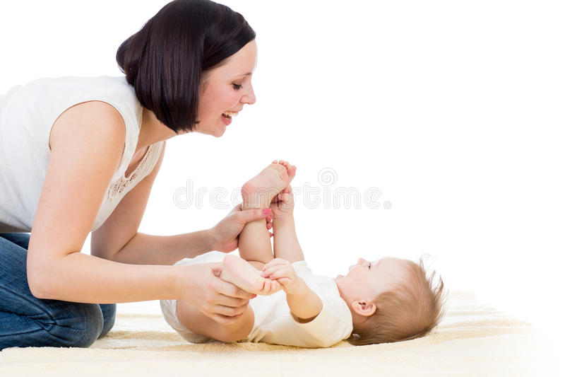 Download Happy Mother Having Fun With Her Baby Boy Infant Stock Image - Image: 28859431