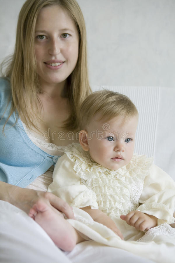 Download Happy mother with her baby stock image. Image of gorgeous - 11656485
