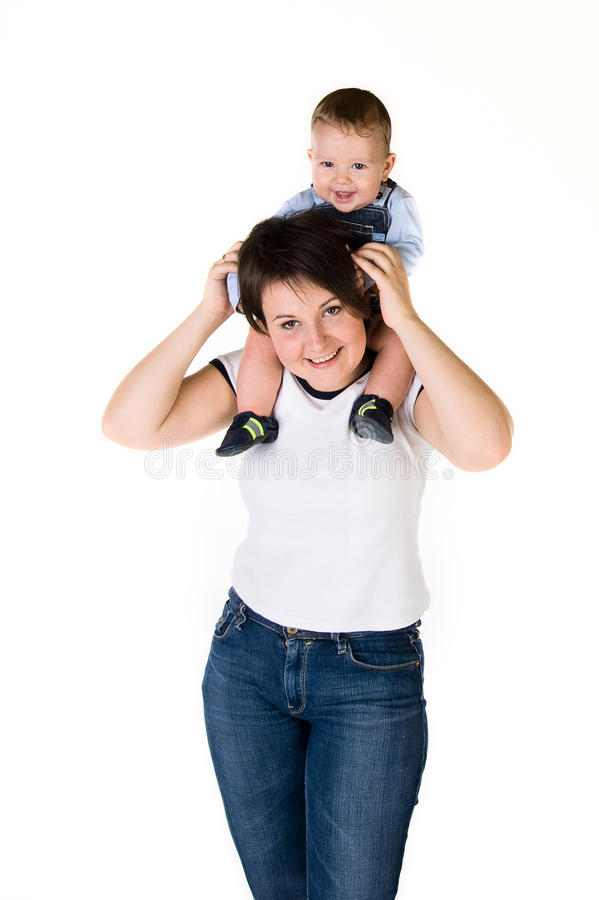 Download Happy mother her baby stock image. Image of beautiful - 13953383