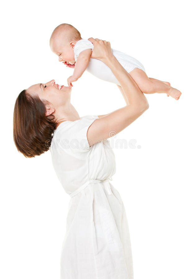 Happy Mother Holding Her Baby Stock Images