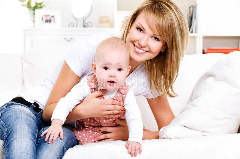 Download Happy Mother With Newborn Baby Royalty Free Stock Image - Image: 16032766