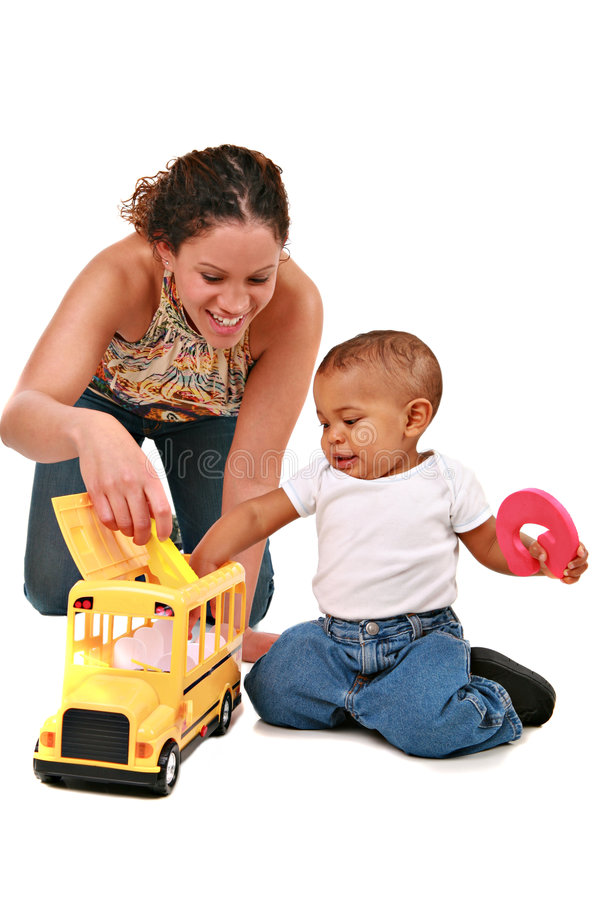 Download Happy Mother Play With Baby Boy Stock Image - Image of parent, play: 9121277