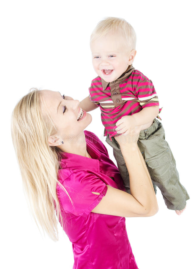 Download Happy Mother Playing With Child Raising Up Stock Photo - Image: 25379116