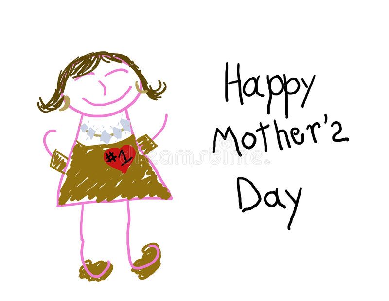 Happy Mother's Day #1 Mom stock illustration