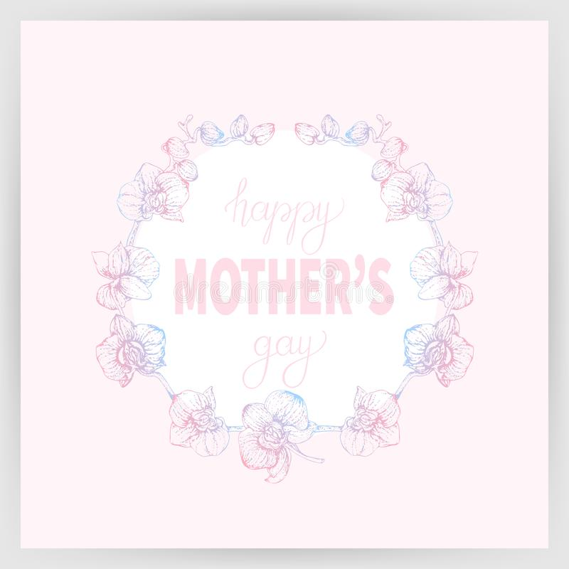 Happy mother`s day 1 stock illustration