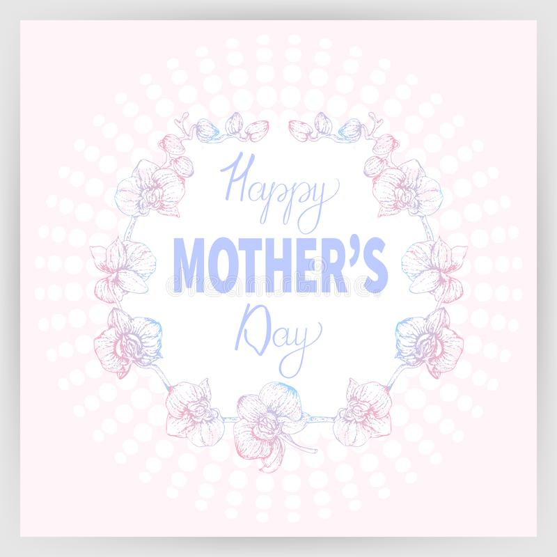 Happy mother`s day 2_01 royalty free illustration