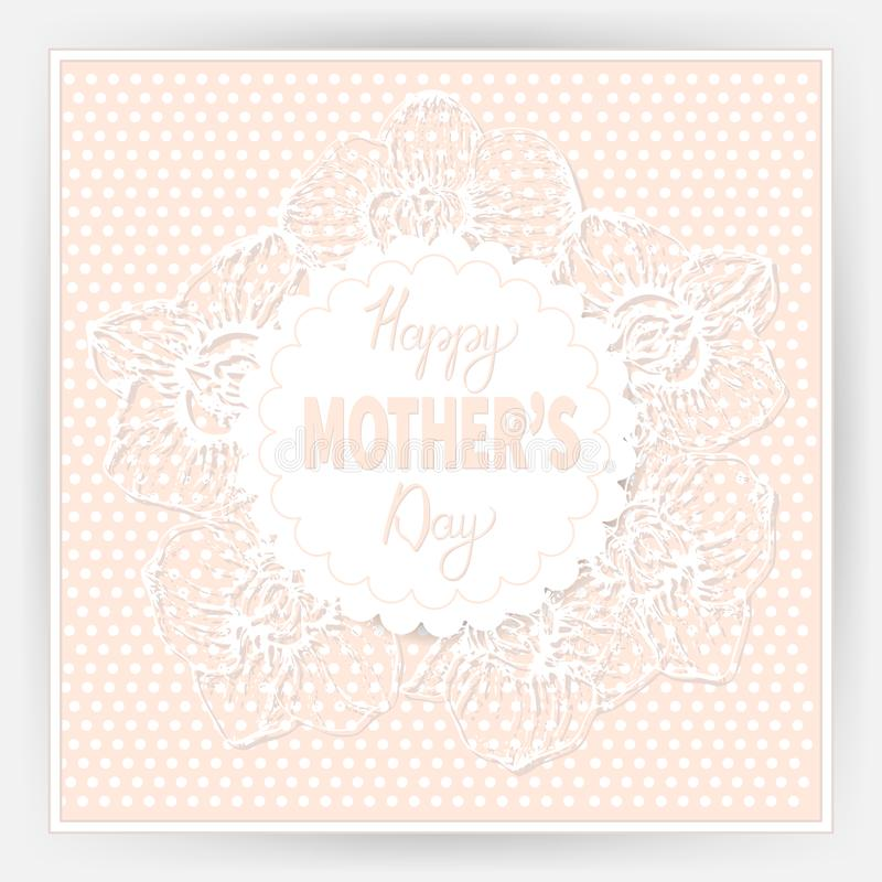 Happy mother`s day 10 stock illustration