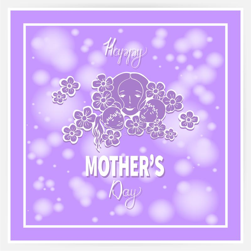 Happy mother`s day 9 vector illustration